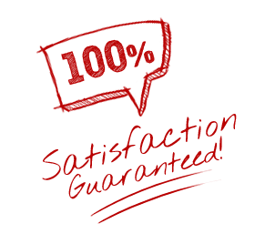 100% Satisfaction Guarantee - Hand Drawn Red